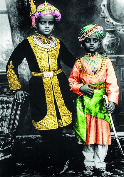 Indien - H.H. Sri Krishna Raja Wodeyar Bahadur IV and Prince Kantirava Narasimharaja Wodeyar of Myso