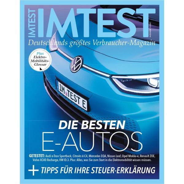 IMTEST E-Paper - Die besten E-Autos 2021