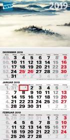 Dreimonatskalender WP 2019