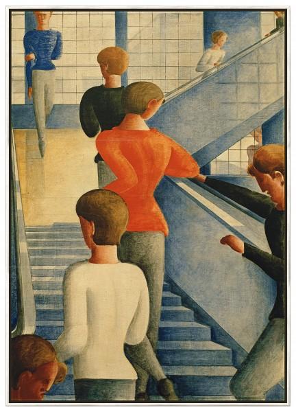 """Oskar Schlemmer: Bild """"Bauhaustreppe"""" (1932), gerahmt"""
