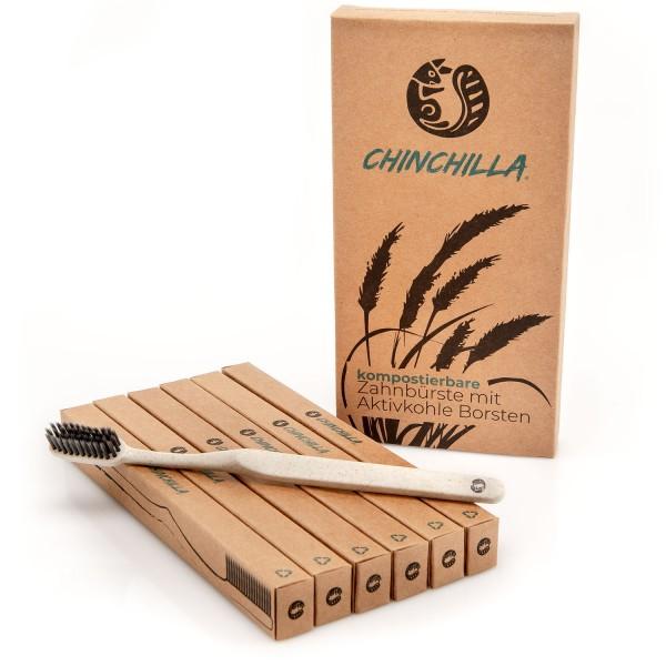 Chinchilla Zahnbürste 6-er Pack