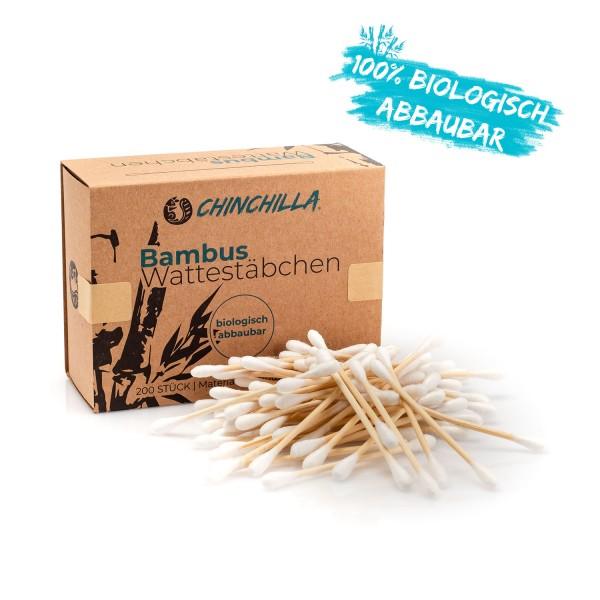 Chinchilla Wattestäbchen aus Bambus 200 Stück