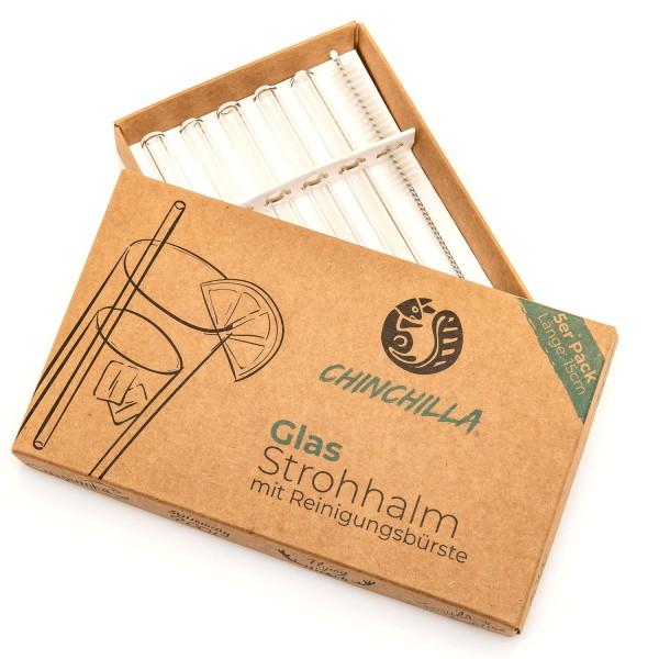 Chinchilla Glastrinkhalme 15 cm