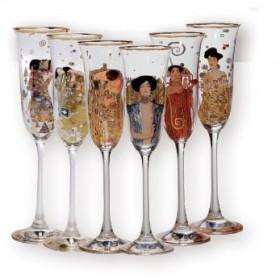 6-teiliges Sektgläser-Set Gustav Klimt