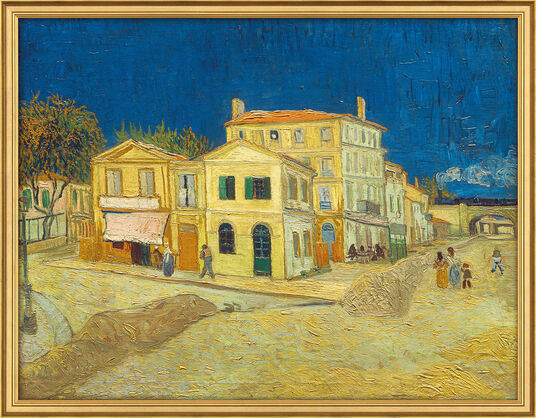 """Vincent van Gogh: Bild """"Das gelbe Haus"""" (1888)"""